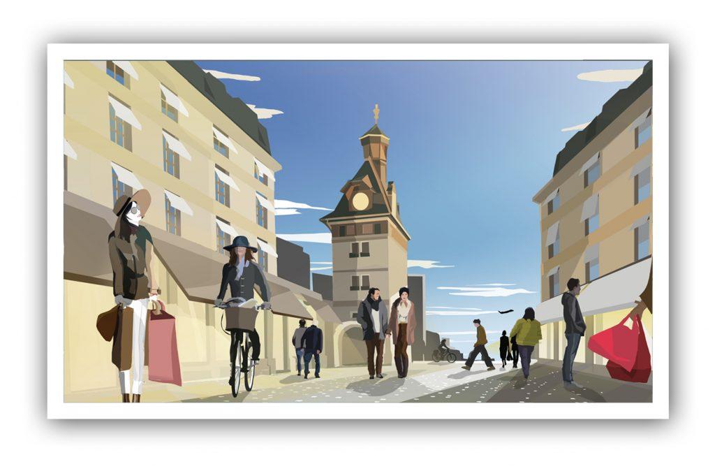 Place du Molard Geneve